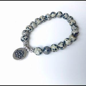 Dalmatian Jasper Mala Bracelet